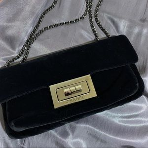 Chanel Velvet Chain Bag